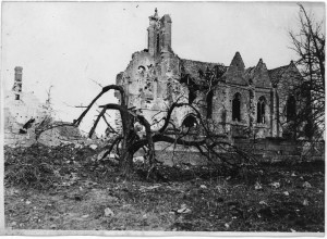 Eglise de Thiescourt détruite durant la grande guerre