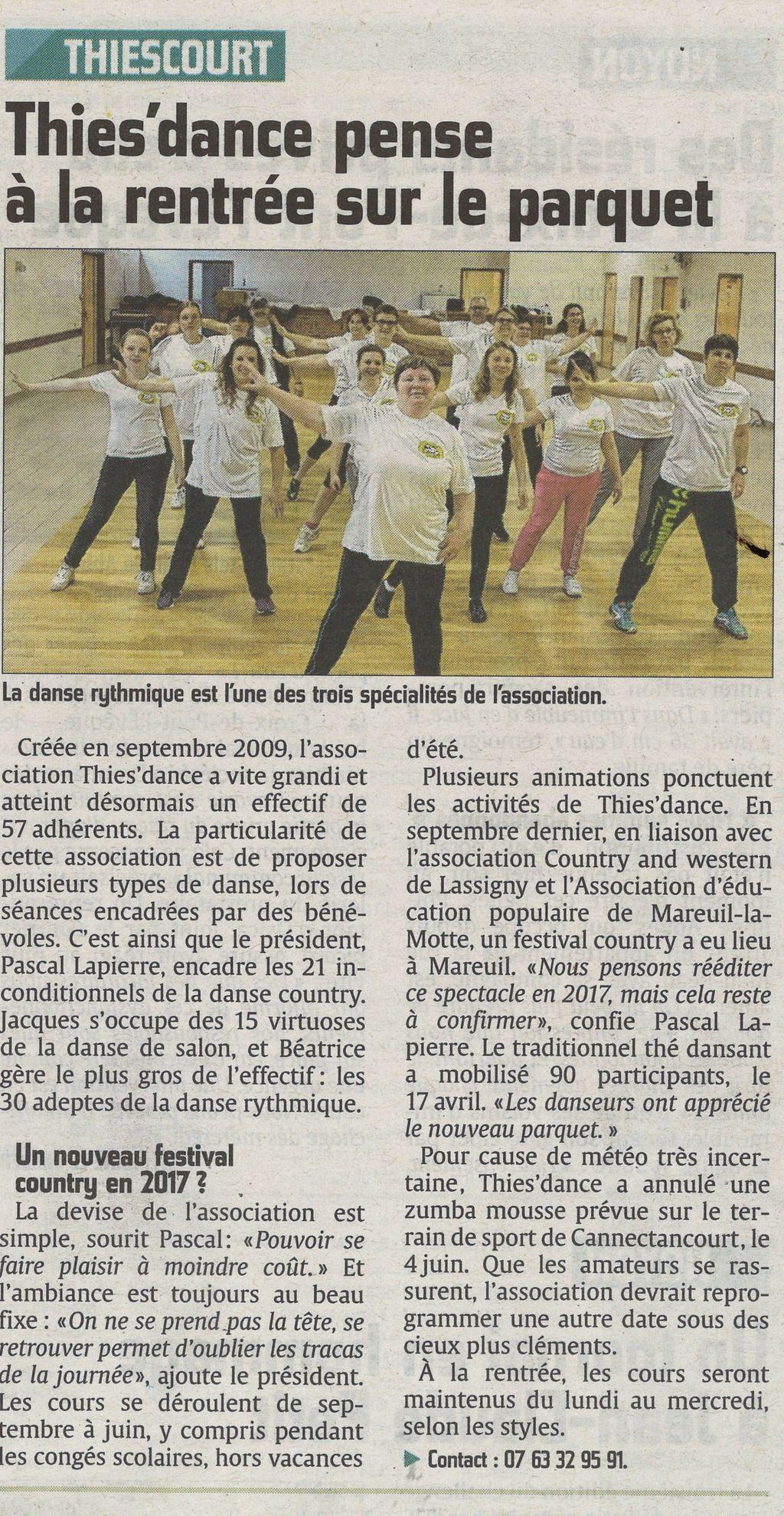 Les danseurs de l'association Thies'Dance sont satisfaits de la rénovation du parquet de la salle des fêtes.