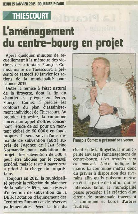 Voeux du maire 15 janvier 2015 Thiescourt