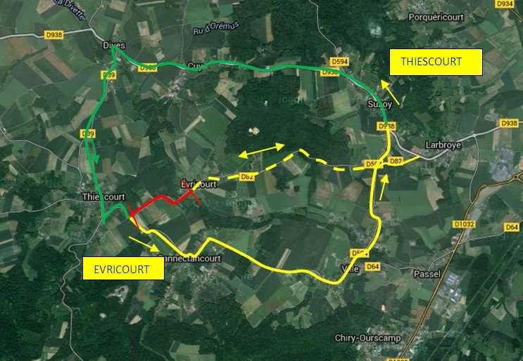 Travaux renforcement 82 entre Thiescourt et Evricourt