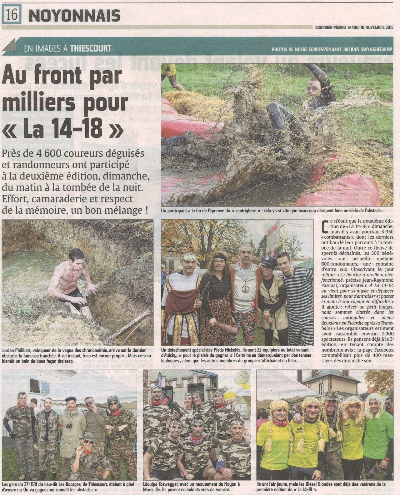 4600 personnes lors de La 14-18 de Thiescourt
